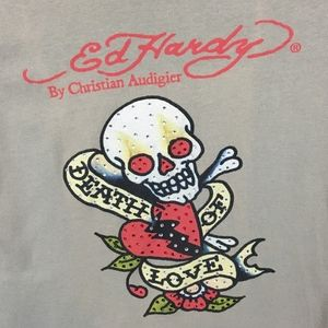 Ed Hardy Death of Love Graphic T-Shirt Size M